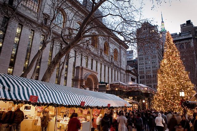полететь на рождество в нью-йорк