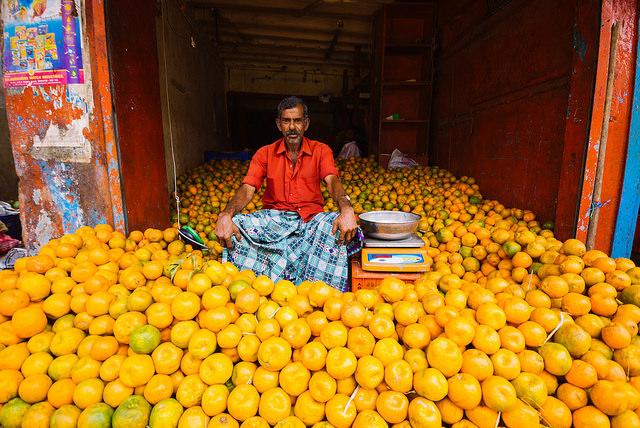 Цены на фрукты и рыбу в Индии в Гоа