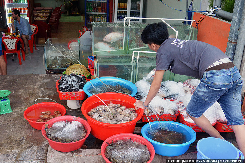 цены на острове фукуок на морепродукты