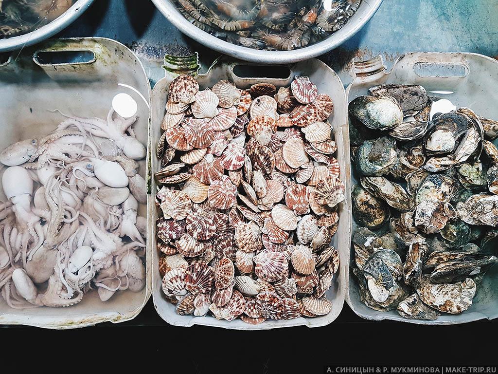 Цены на морепродукты в Муйне