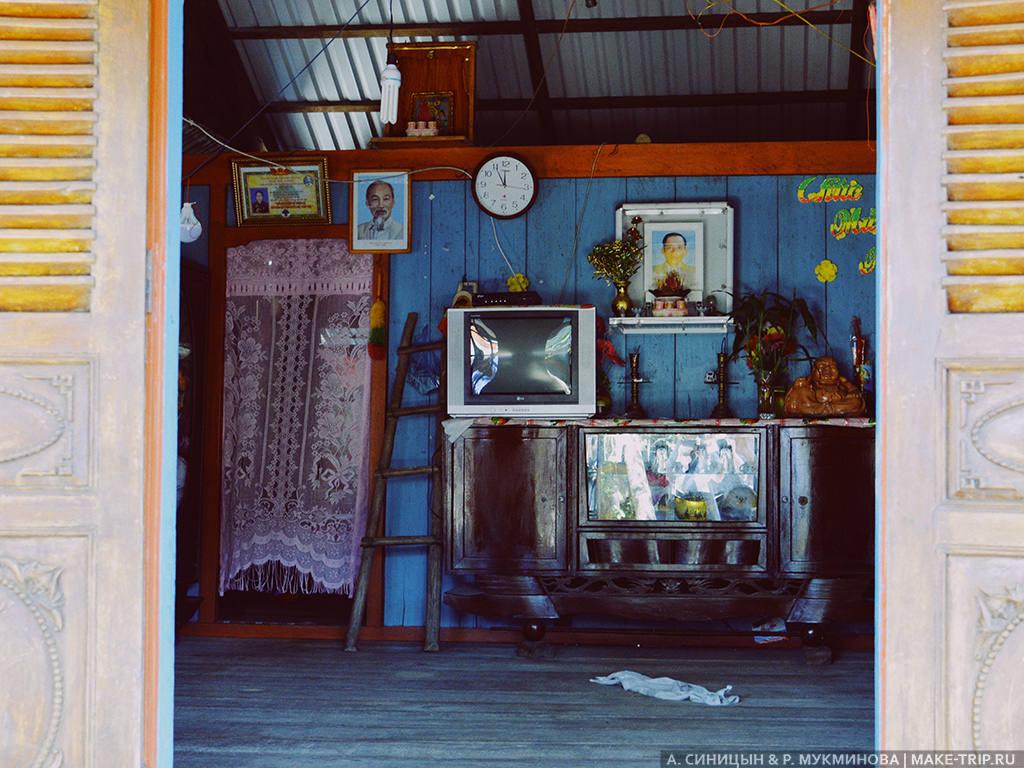 Дом в деревне на острове Фукуок во Вьетнаме