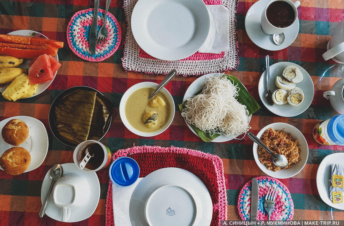 Цены в кафе на Шри-Ланке