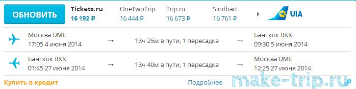 дешевые авиабилеты в Таиланд (Бангкок) из Москвы - Авиасейлс