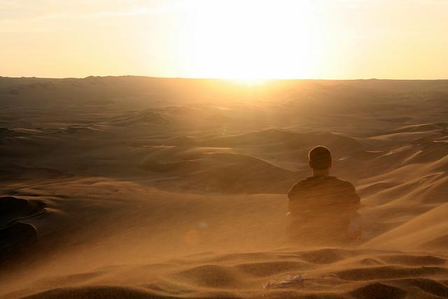 Пески вокруг оазиса Уакачина