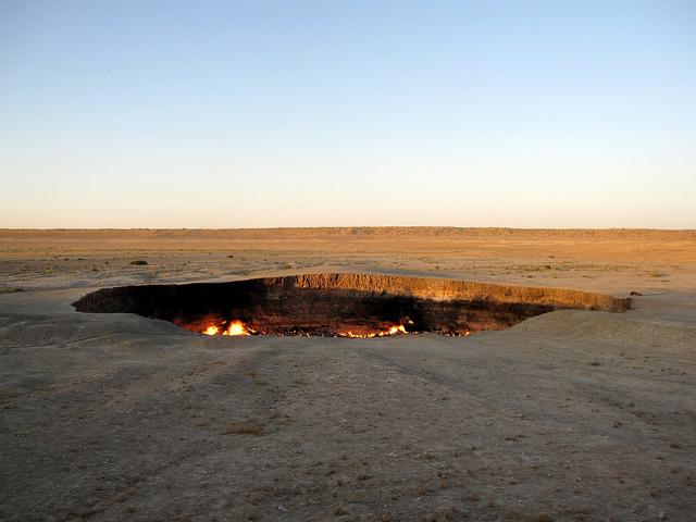 Фото Дарваза. Туркменистан.