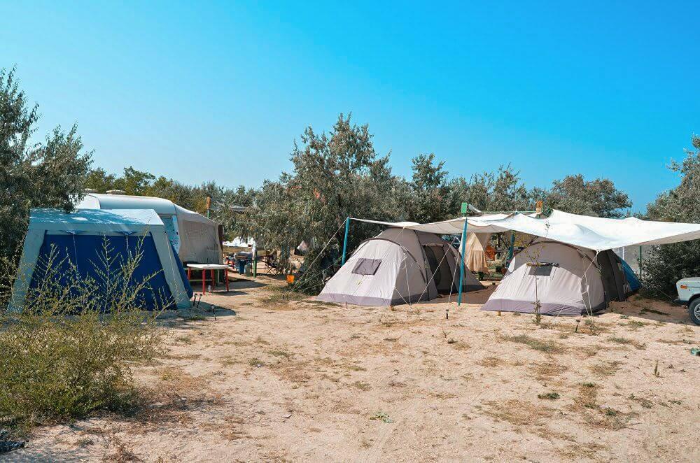 Где остановиться с палатками на Азовском море