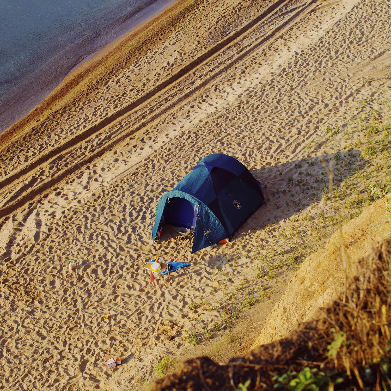 Где поставить палатку в Анапе