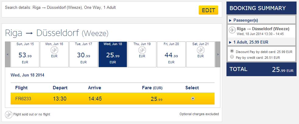 Рига - Дюссельдорф. Как дешево долететь до Тенерифе.