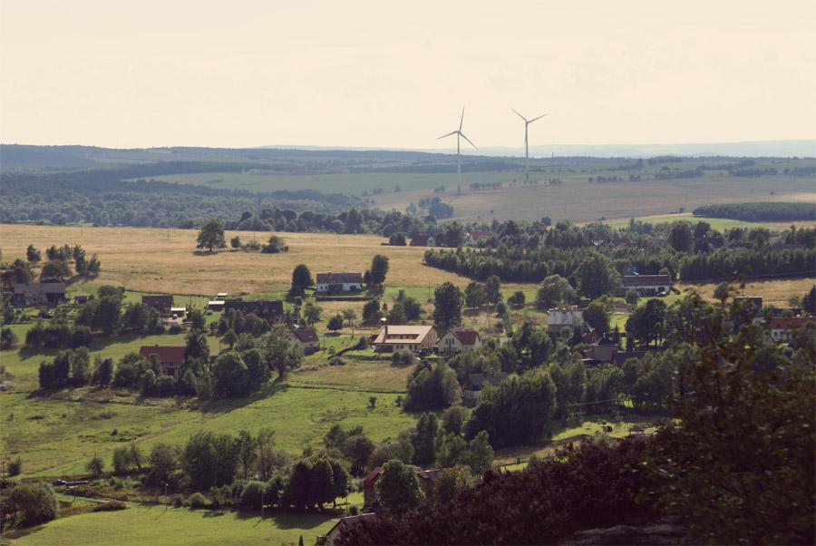 Чехия. Вид со склонов гор.