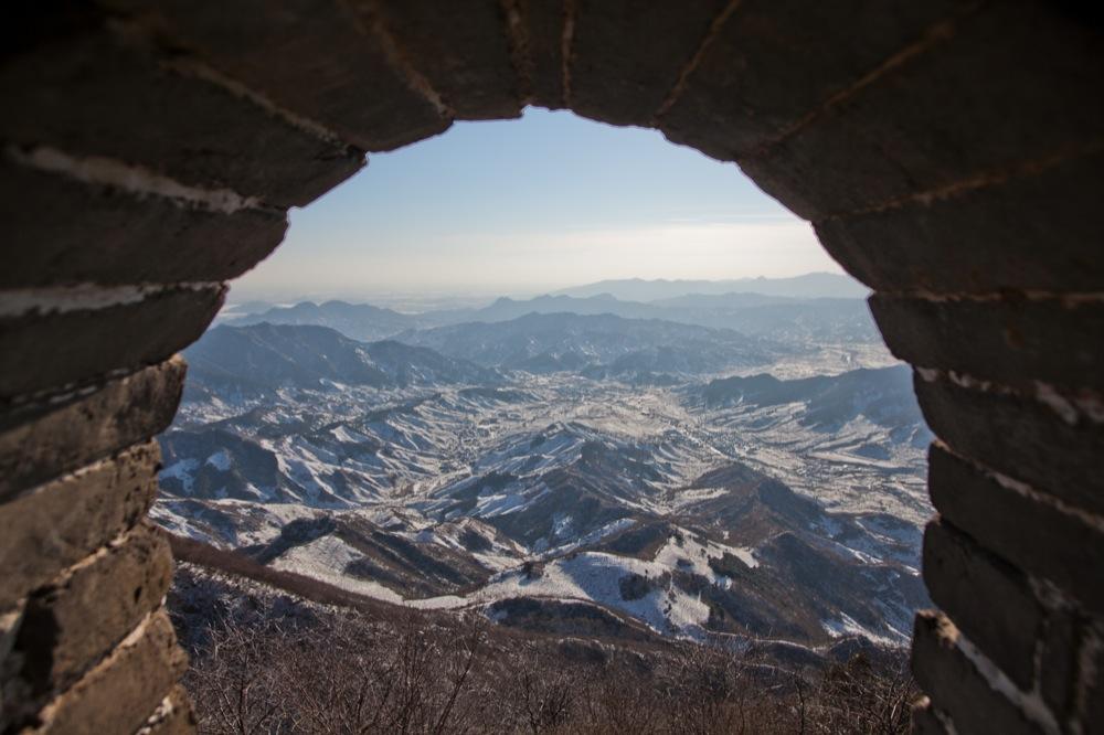 Вид с Великой Китайской стены, Китай