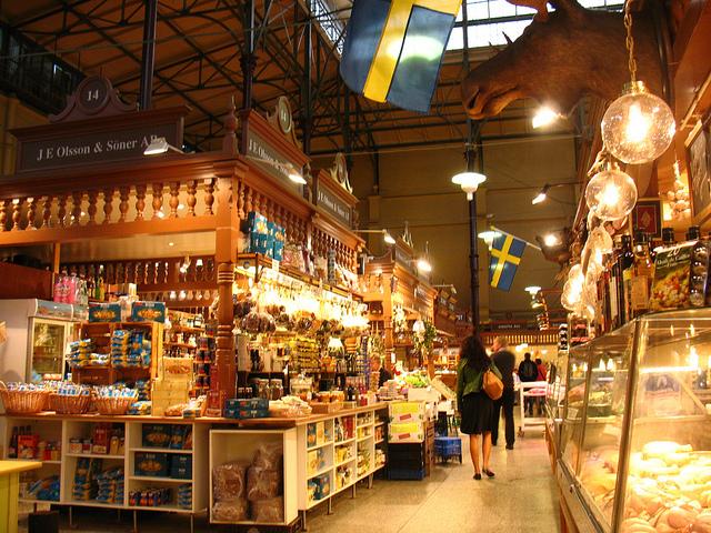 свежие и дешевые продукты в стокгольме