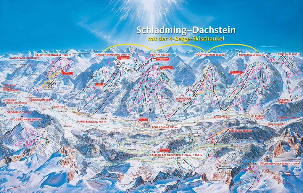 Популярные горнолыжные курорты Австрии