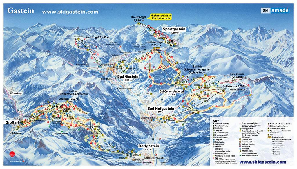 Горнолыжный курорт Бад-Гаштайне в Австрии