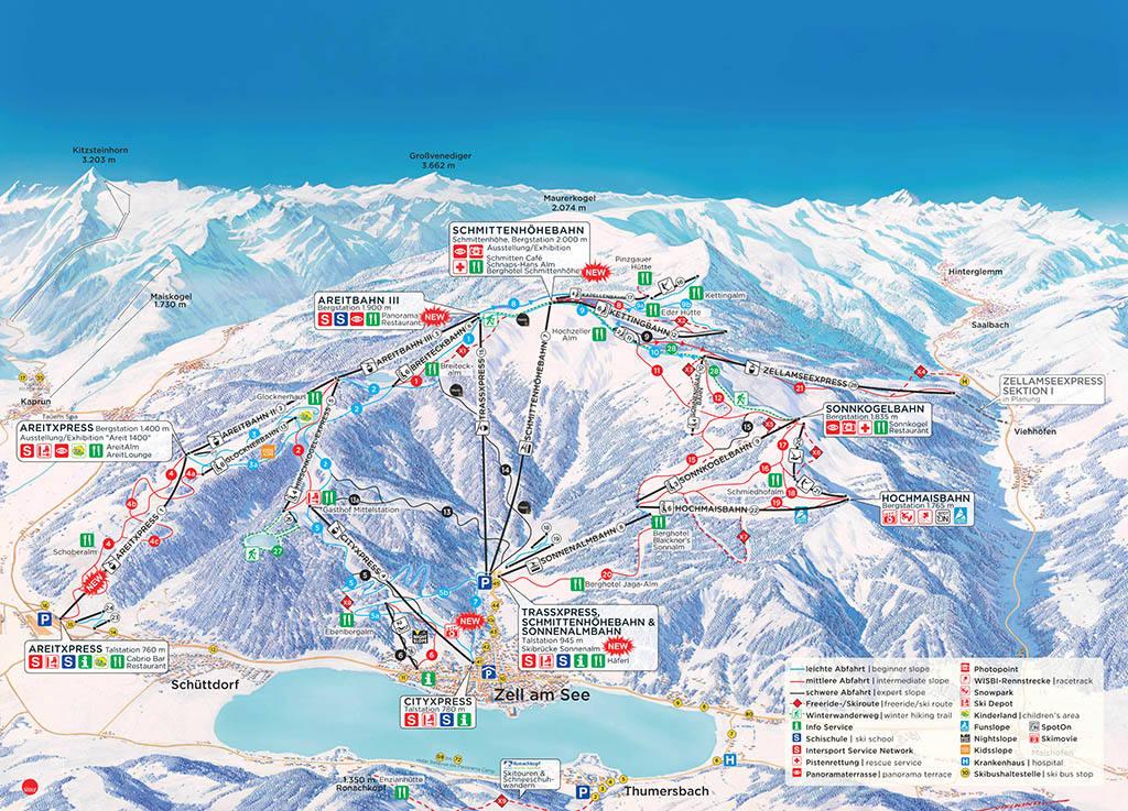 Самые популярные горнолыжные курорты Австрии