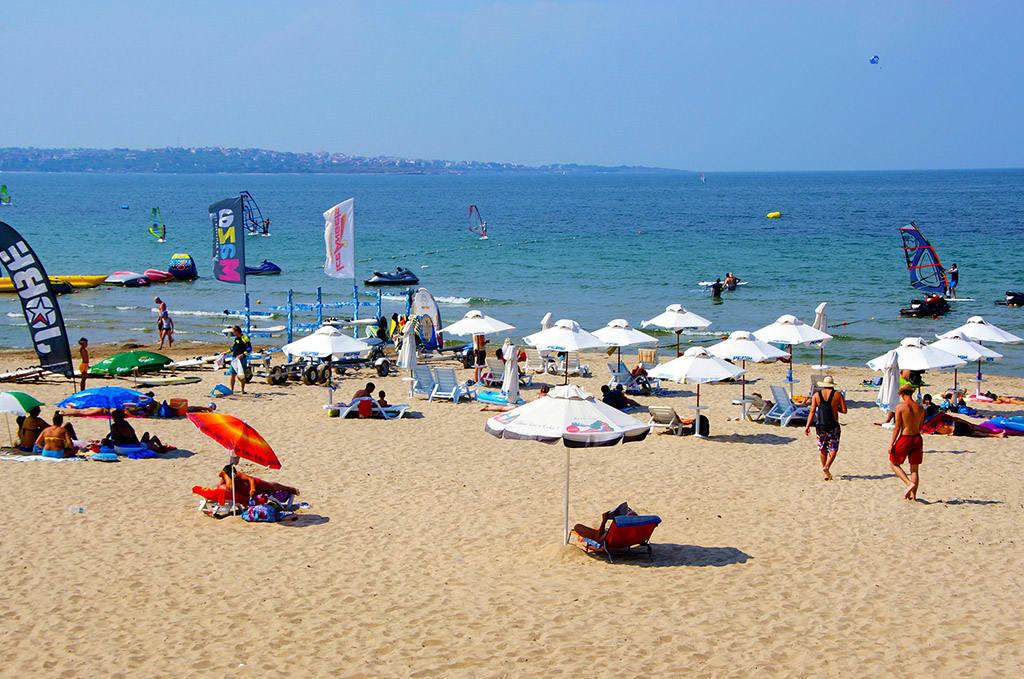 Песчаный пляж в Болгарии