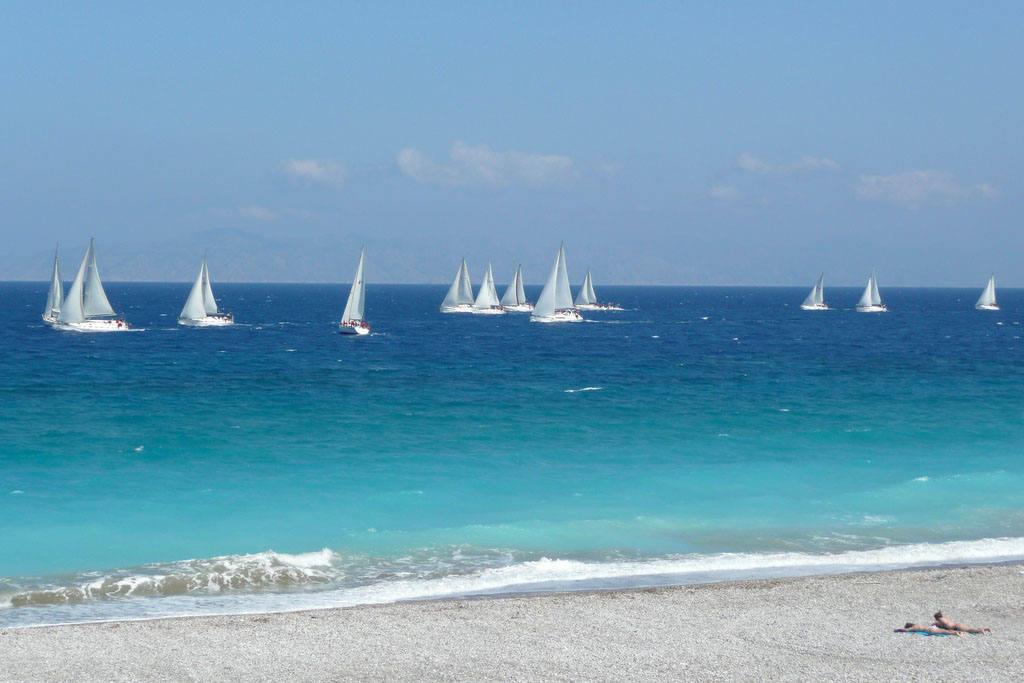Пляж Родоса для водного спорта