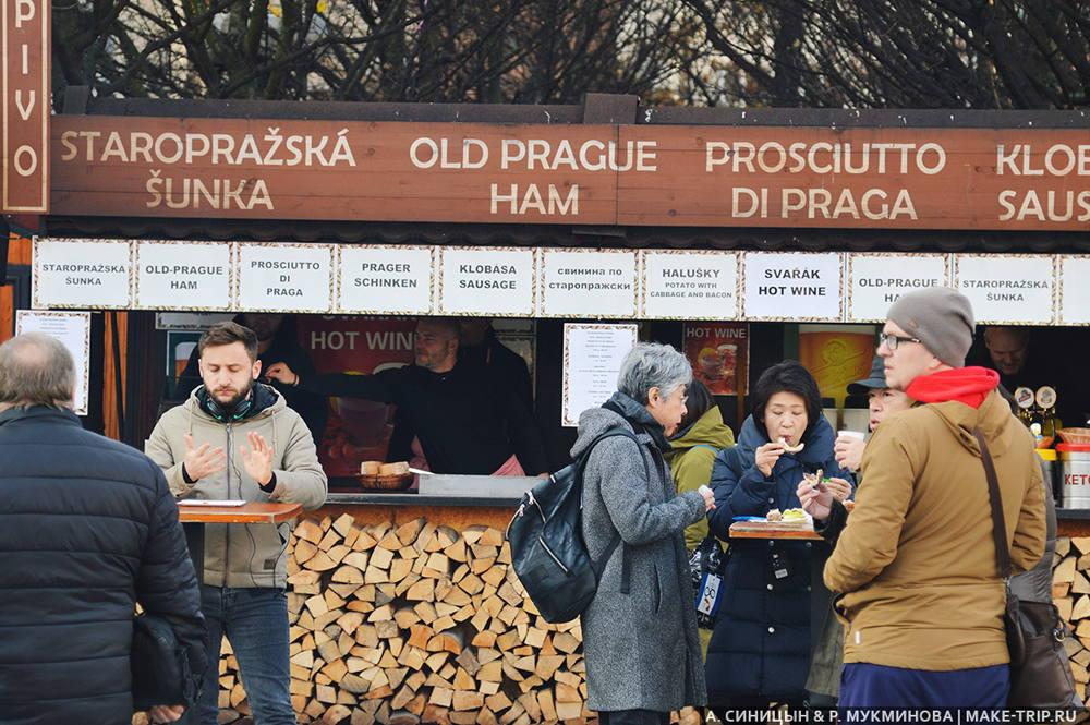 Цены на еду в Праге