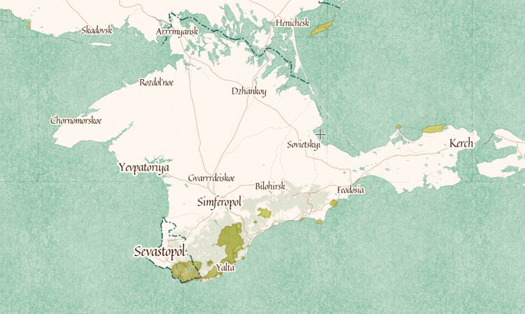 карта крым