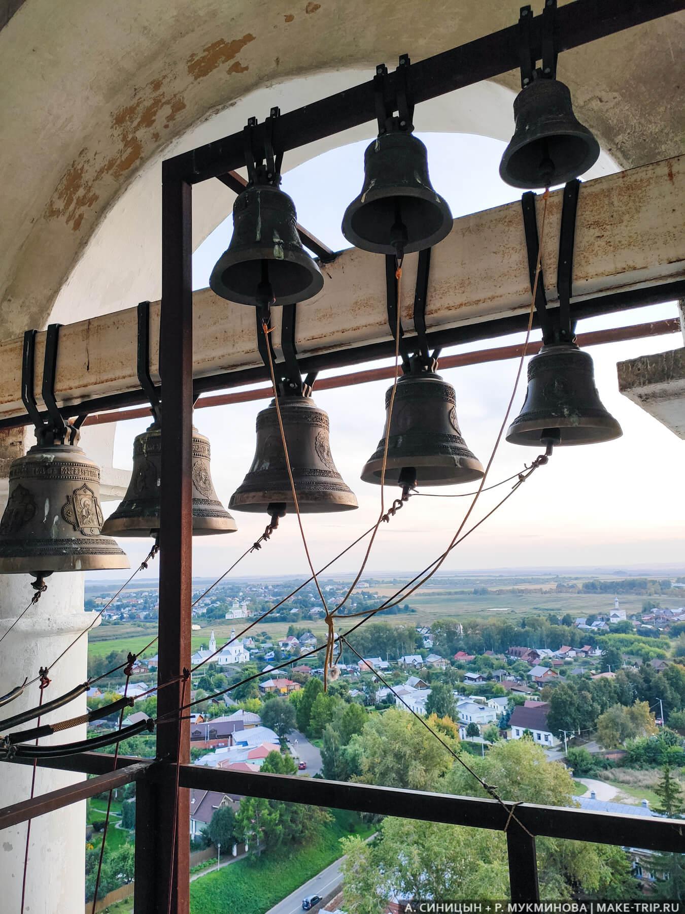 Колокола в Преподобенской колокольне