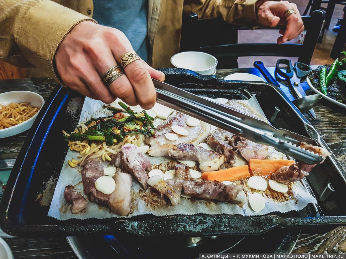 популярная еда в корее