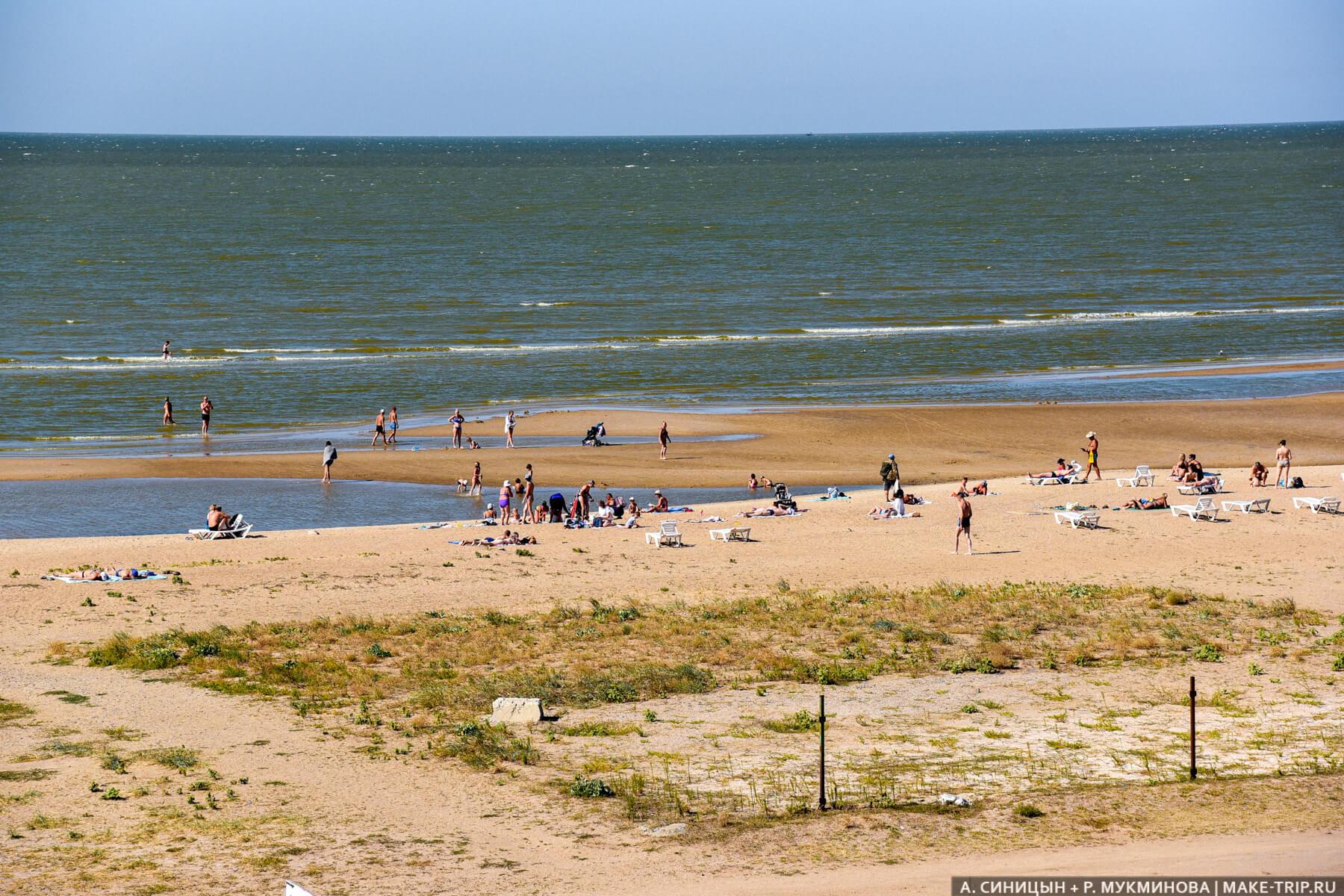 Пляж Каменка в Ейске