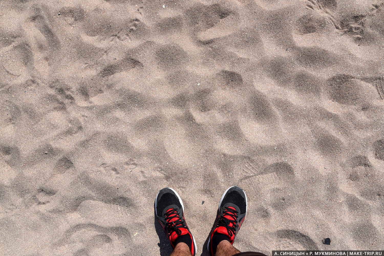 Песчаный пляж в Геленджике