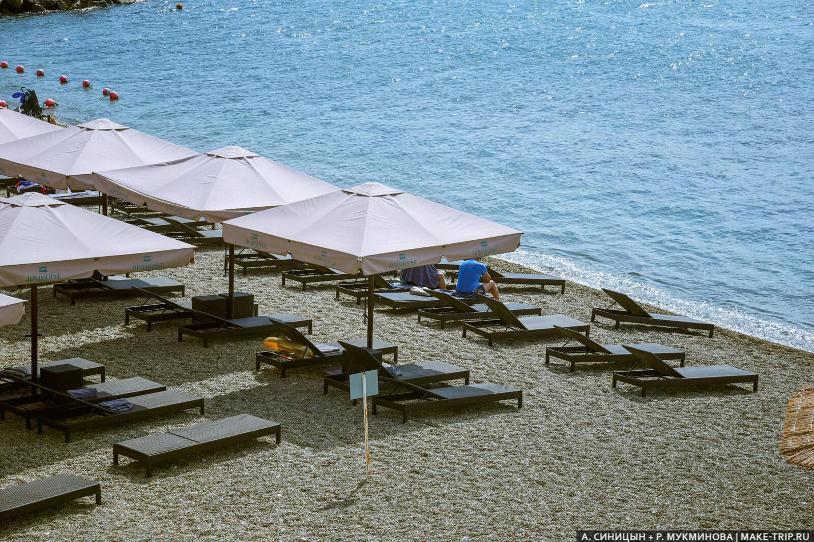 Галечный пляж в Геленджике