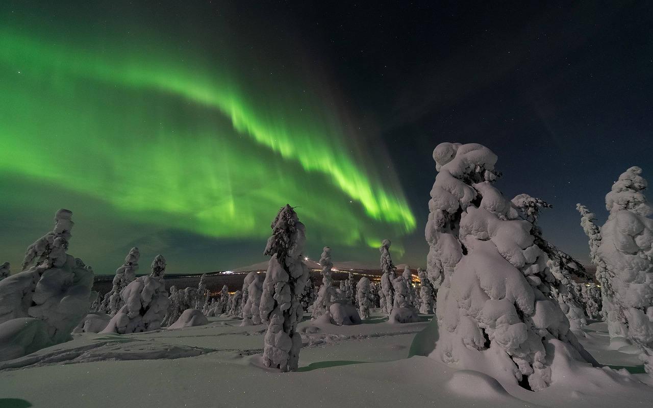 Где посмотреть северное сияние в Финляндии