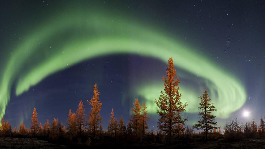 Где можно увидеть северное сияние в ЯНАО