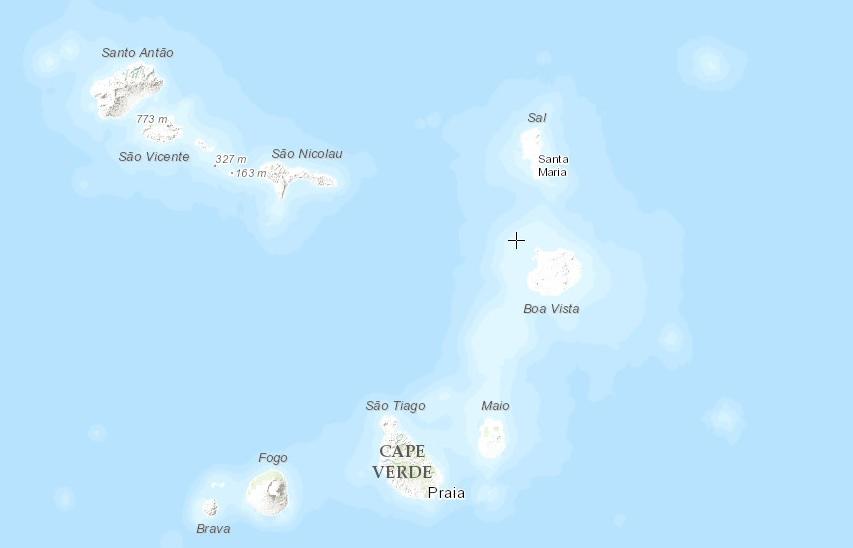острова зеленого мыса на карте мира