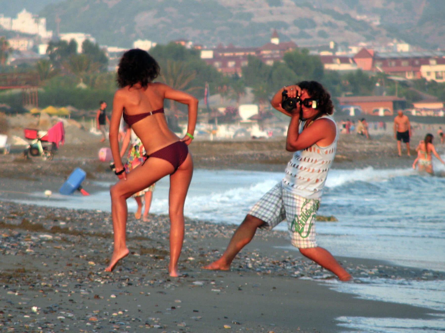 Пляж с галькой в Аланье