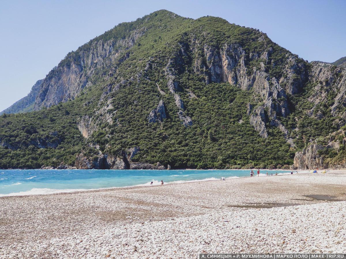 Пляж Чиралы рядом с Кемером