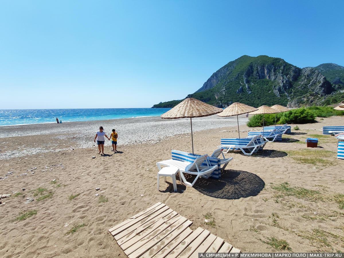 Пляж Чиралы Кемер как добраться