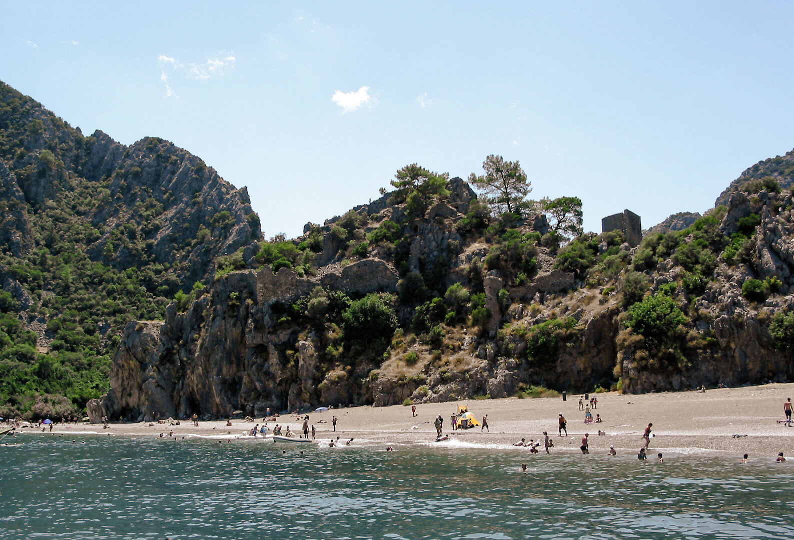Один из лучших пляжей в Анталии